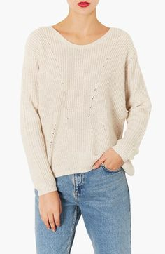 Topshop 'Clean' Ribbed Sweater available at #Nordstrom