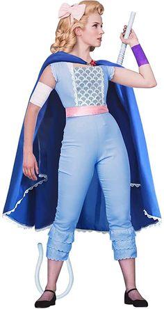 Bo Peep Costume Adult Blue Suit Cape for Halloween Women Cosplay Dress Bonnet