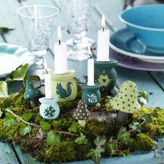 Forest theme indoors. diy craft supplies