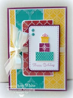 The beauty of this card is all in the color combo and the pretty layout.