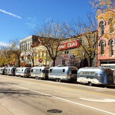 """Eaton Rapids MI  """"Starting to come together! #UrbanAir2015 #airstream #liveriveted #woodland"""""""