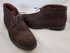 fbfc2c3d58 Alden J Crew Leather Suede Rough Out Chukka Boots Shoes 9.5 B D 13661 Dark  Brown