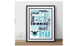 Swimming, Swim, swimmer, swimmer gift, swim team, gift for swimmer, swimmer wall…