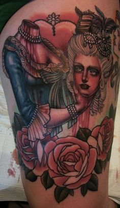 marie antionette tattoo by christina garcia
