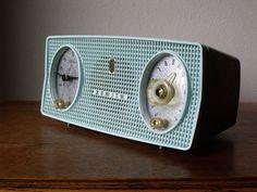 Zenith Tube Radio - 1959 - Turquoise - B514-F - Atomic Age Sound System - Technology -Treasury List on Etsy, $130.17 AUD