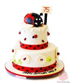 75th Ladybug Birthday Cake by Pink Cake Box
