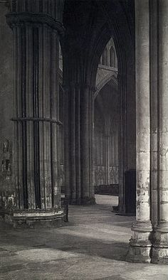 Frederick H. Evans --'View across the nave to the transept at York Minster'  1901