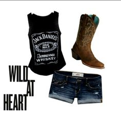 Jack Daniel's Outfit #Country #Wild At Heart # Summer Clothes