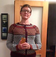Ravelry: Project Gallery for Wiolakofta pattern by Kristin Wiola Ødegård Fair Isle Knitting, Hand Knitting, Cardigan Pattern, Color Patterns, Ravelry, Ipad, Men Sweater, Vest, Sweaters