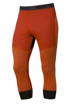 Helly Hansen Mens Warm Flow ULLR 3/4 Baselayer Pants: Magma