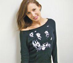 Cat sweater / Tiger sweatshirt / Big Cat eco friendly by RCTees, $38.00