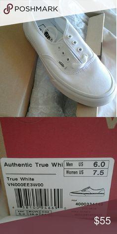 NWT Brand new white vans My favorites.. Vans Shoes Sneakers