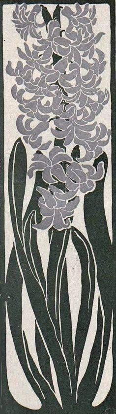 Iris for Jugend Magazine by Paul Haustein - (yamabato) Graphic Design Illustration, Illustration Art, Art Nouveau, Magazine Art, Botanical Art, Illustrations, Japanese Art, Art Lessons, Flower Art
