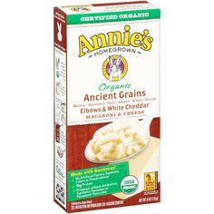 Annie's Organic Ancient Grains Elbows & White Cheddar Mac & Cheese 6 oz Box (Pack of 12)