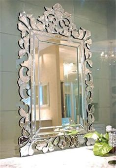 This quality wall mirror will beautify and style your room. Shop from our large range at SHINE MIRRORS Unique Bathroom Mirrors, Decorative Wall Mirrors, Mirrored Picture Frames, Double Mirror, Art Deco Mirror, Beveled Mirror, Mirror Mirror, Wall Mirror Ideas, Living Room Mirrors