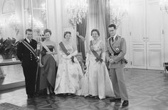 Prins Albert , Prinses Paola , Prinses Beatrix ,
