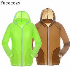 Facecozy女性&男性夏クイックドライ釣りシャツuv/太陽保護ハイキング&キャンプシャツ通気性屋外シャツカップル