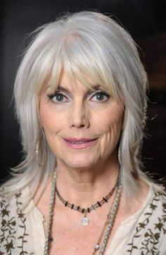 Layered Bangs hairstyles for women over 70