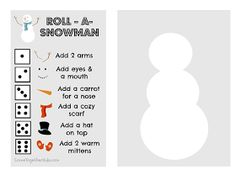 Come Together Kids: Roll-A-Snowman game (with printable)