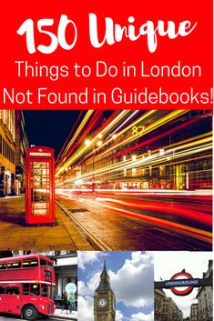 London is such an incredible and enormous city full of things to see and do. But there is way more than what is in the guidebooks! Check out our 150 Unique things to do like ukelele lessons, jewellery making, morning raves, kimono creations and more. #londontravel #londontraveltips #seelondon #uktravel
