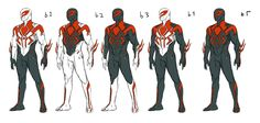 Marvel Spider-Man 2099 by Kris Anka comic artist reference Superhero Characters, Comic Book Characters, Comic Character, Character Design, Spiderman Suits, Spiderman Art, Spiderman Drawing, Marvel Heroes, Marvel Dc