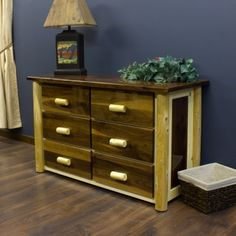 Black Walnut Rustic Dresser | Cabin Decor