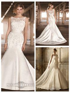Stunning Lace Illusion Bateau Neckline Trumpet Vintage Wedding Dresses http://www.ckdress.com/stunning-lace-illusion-bateau-neckline-trumpet-  vintage-wedding-dresses-p-478.html