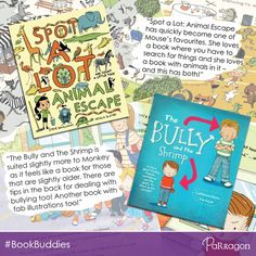 UK #BookBuddy 'Writings, Ramblings and Reviews' found that both of her little ones could enjoy 'Spot A Lot: Animal Escape' and 'The Bully and the Shrimp'