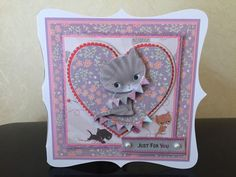 Handmade personalised birthday Card Little Meow Cat Mum Sister Gran Daughter 1 Cardmaking, Card Ideas, Birthday Cards, Dog Cat, Sisters, Daughter, Paper Crafts, Teddy Bear, Cats
