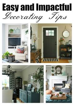 You don't have to spend a lot of money to decorate your home!  These big impact, affordable tips are all you need! - Littlehouseoffour.com