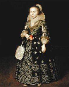 Wybrand de Geest (attr.), Portrait of a girl - Formerly in New York, Lawrence Steigrad Gallery  Jean Moust