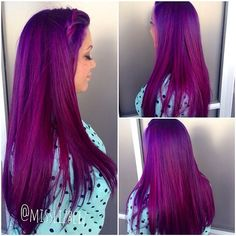 Weekly hair collection: the TOP hairstyles of the week! Top Hairstyles, Pretty Hairstyles, Love Hair, Gorgeous Hair, Bright Hair Colors, Bright Purple Hair, Deep Purple Hair, Violet Hair Colors, Magenta Hair