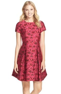 Free shipping and returns on Taylor Dresses Floral Jacquard Fit & Flare Dress at Nordstrom.com. Sumptuous floral jacquard evokes feelings of rose-garden romance on this sweet party dress fashioned with a pleated skirt that lends swingy volume.