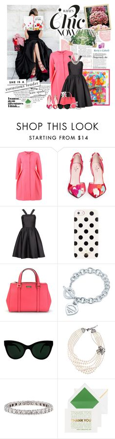 """""""What's Chic - Kate Spade"""" by violetta-valery ❤ liked on Polyvore featuring Orla Kiely, Kate Spade, Tiffany & Co., KamaliKulture and Gabriele Frantzen"""