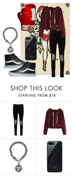 """""""Boxing 991"""" by camillydompedro ❤ liked on Polyvore featuring Boohoo, Sheryl Lowe, Native Union, Vans and Everlast"""