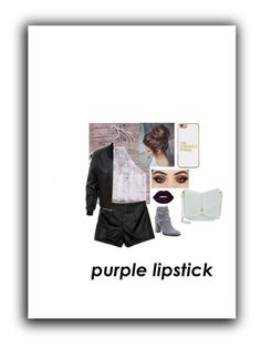 """""""Struggle is Real - Purple Lipstick"""" by mysticbelieber319404 ❤ liked on Polyvore featuring beauty, Valentino, LE3NO, Ted Baker, BaubleBar, Leather, booties, casualoutfit, purplelip and struggleisreal"""