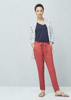 Flowy crepe trousers | MANGO