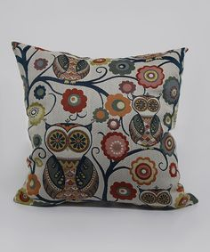 Look at this Tropical Wise Owl Throw Pillow on #zulily today!