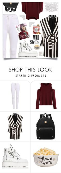 """""""Movie Night"""" by violet-peach ❤ liked on Polyvore featuring WithChic, Balmain, Puma and The Hampton Popcorn Company"""