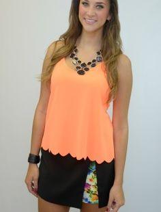 Neon Orange Miley Tank  http://shoptaylormonroe.com/product/neon-orange-miley-tank/