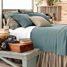Teal with envy for this gorgeous bedding!