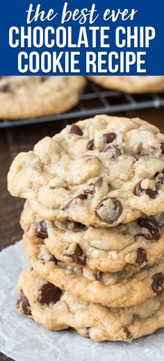 This is the BEST Chocolate Chip Cookie Recipe and the only basic cookie recipe y. - Desserts / Baking - This is the BEST Chocolate Chip Cookie Recipe and the only basic cookie recipe y. Basic Cookie Recipe, Best Chocolate Chip Cookie Recipe Ever, Basic Cookies, Cookie Dough Recipes, Chocolate Chip Cookie Dough, Easy Cookie Recipes, Chocolate Recipes, Dessert Recipes, Cookie Desserts