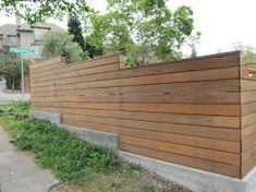Image result for horizontal fence with shades