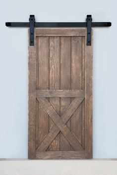 Sale Sliding Barn Door Reclaimed Pine Turquoise White