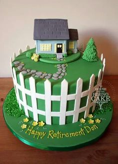 Cake Decoration For House Blessing : 1000+ images about House cakes on Pinterest House Cake ...