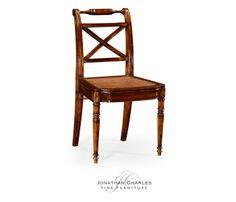 Regency cross frame back chair (Side) #hpmkt #jcfurniture #jonathancharles #Furniture #InteriorDesign #Windsor