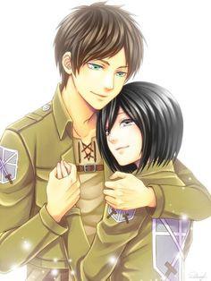 Eren Jaeger x Mikasa Ackerman.  I like this ship, but I think something bad would have to happen -- or almost happen -- to Mikasa in order for Eren to get over himself and start actively loving/pursuing a relationship with her.  As it stands, he's a jerk to her, but she'd die for him anyway, and it hurts the feels.