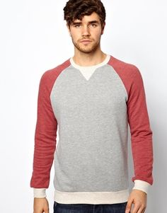 ASOS+Sweatshirt+With+Contrast+Raglan+Sleeves