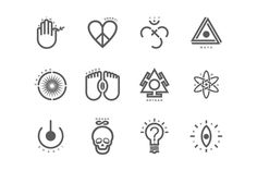 Hindustan Hipsters by Anish Sundaran, via Behance | A symbology that reflects an attitude towards love, light, the universe and everything else. We're optimistic realists. #Illustrations #Design #Art More on http://bababanana.in