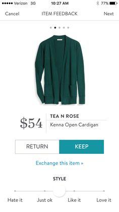 Stitch Fix Tea N Rose Kenna Open Cardigan